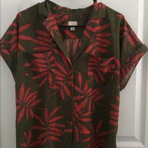 retro inspired hawaiian blouse